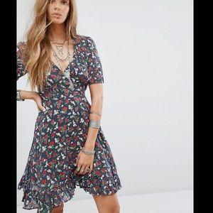 Ralph Lauren denim & supply floral wrap dress